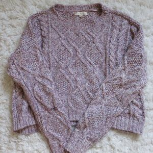 Pacsun - L.A hearts cable knit cropped sweater